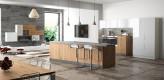 Inselküchem Küche weiß, hochglanz