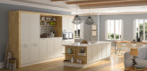 Rahmenfront, Insel Küche, Weiß