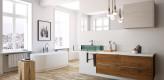 Badezimmer, Holz, Weiß, modern, zeitlos